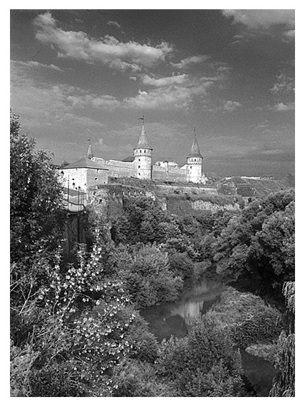 Fortress in Kamianets-Podilsky.